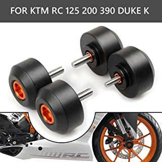 Coolsheep Motorcycle Front & Rear Fork Wheel Crash Protector Frame Slider for KTM RC 125 200 390 Duke