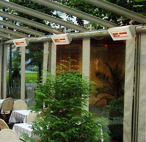 Heliosa 55 55FMOB Heizstrahler Terrassenstrahler Infrarotstrahler 2000 Watt (leistungsstark) IPX5, aus robustem Aluminium-Druckguss hergestellt und mit thermoplastischen Lacken für den Außenbereich lackiert. Kurzwellen – Heizstrahler für Indoor und Outdoor geeignet, Farbe: Anthrazit - 2