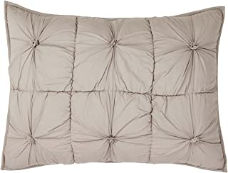 VHC Brands Farmhouse Bedding - Camille Grey Sham, Standard, Taupe