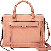 Rebecca Minkoff Women's Bree Medium Top Zip Satchel Dusty Peach