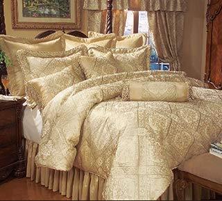 KingLinen 9 Piece Queen Gold Imperial Comforter Set