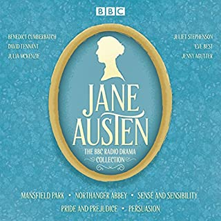 The Jane Austen BBC Radio Drama Collection     Six BBC Radio Full-Cast Dramatisations              By:                                                                                                                                 Jane Austen                               Narrated by:                                                                                                                                 David Tennant,                                                                                        Benedict Cumberbatch,                                                                                        Julie McKenzie                      Length: 14 hrs and 27 mins     1,661 ratings     Overall 4.5