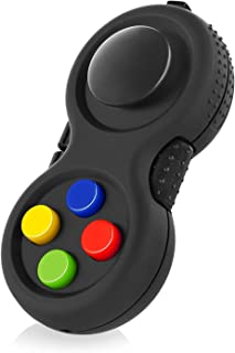 The Original Fidget Retro: The Rubberized Classic Controller Game Pad Fidget Focus Toy with 8-Fidget Functions and Lanyard - Perfect for Relieving Stress (Original Version)