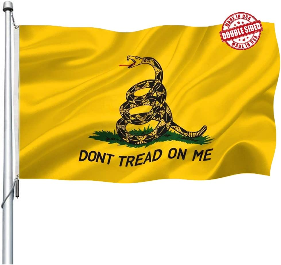 Double Sided Dont Tread on Reservation Me Don't Tre Heavy Gadsden Duty Seattle Mall Flag-