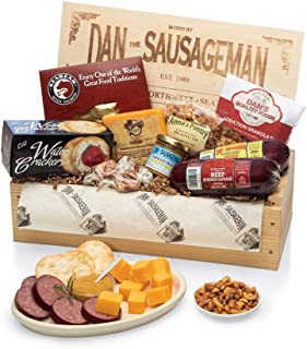 Dan the Sausageman's Favorite Gourmet Gift Basket -Featuring Dan's Original Sausage, Seabear Salmon, 100% Wisconsin Cheese...