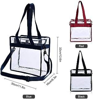 Moonroe Women Clear Handbag,Waterproof Transparent PVC Tote Bag Stadium Security Travel & Gym Clear Shoulder Bag Outdoor Shopping Beach Travel