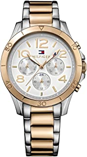 ساعة تومي هيلفجر اليكس للنساء بمينا فضي وسوار من الستانلس ستيل - 1781525