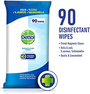 Dettol Antibacterial Disinfectant Surface Cleaning Wipes (90 pack)