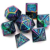 DND Metal dice, Used in Dungeon and Dragon dice Games, RPG, Blacksmith Craft, Science Magic Collection dice Set, The Coolest Gift for Role Playing