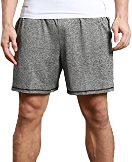 LINGMIN Men's Gym Workout Short Loose Fit Breathable Fitness Short Pants Running Walking Mesh Shorts with Pockets