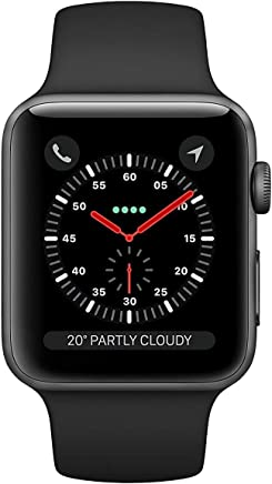 Apple Watch Series 3 (GPS), 38mm Space Gray Aluminum Case with Black Sport