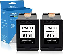 HWDID Remanufactured Ink Cartridge Replacement for HP 61XL 61 XL CH563WN to use with Envy 4500 5530 5534 5535, OfficeJet 4635 4630 2620, DeskJet 1000 1056 1512 2514 2540 2544 3000 (2 Black) High Yield