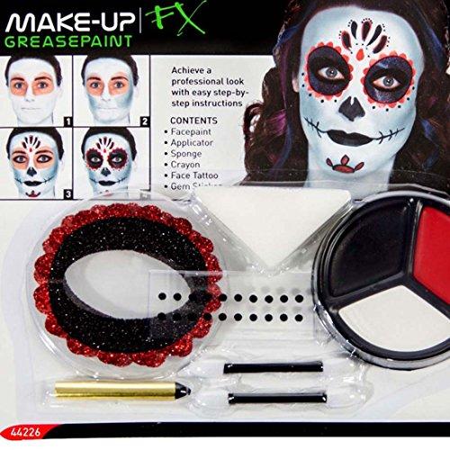 Amakando Pintura Sugar Skull Maquillaje máscara Calavera