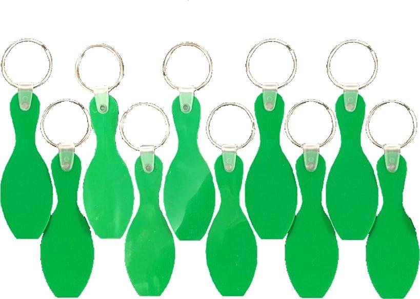 Sierra Novelty Bowling Stuff Bowling Pin Key Chains - 10 Pack