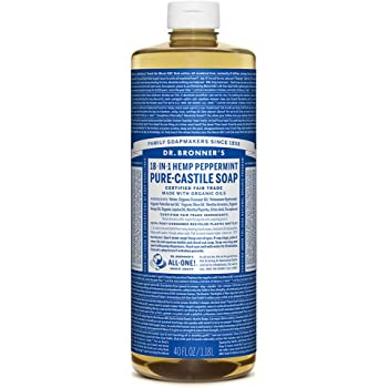 Dr. Bronner's Magic Pure-Castile Soap, Value 40 Ounce Bottle, 18-in-1 Hemp Peppermint