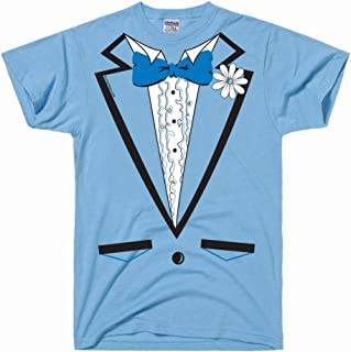 DirtyRagz Men's Powder Blue Vintage Tuxedo Tux T Shirt
