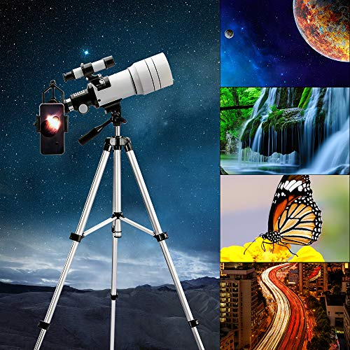 61+B9zQb09L - ToyerBee Telescope for Kids &Adults &Beginners,70mm Aperture 300mm Astronomical Refractor Telescope(15X-150X),Portable Travel Telescope with an Adjustable Tripod,A Phone Adapter&A Wireless Remote