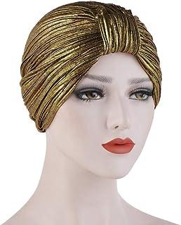 528eed35d FRAUIT Sombrero Musulmán Fruncido Mujer Sombrero de Cabeza de Turbante  Cuello del Abrigo del Turbante de