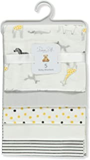 Rene Rofe Unisex Baby Animal Polka 5-Pack Receiving Blankets - White/Yellow,
