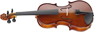 Stagg VN-1/2 EF 1/2-Size Violin with Solid Spruce Top & Ebony Fingerboard with Standard Soft Case - Natural