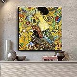 KWzEQ Pintura al óleo Cartel de Arte Pop escandinavo y Mural de Sala sobre Lienzo,Pintura sin Marco,45x45cm