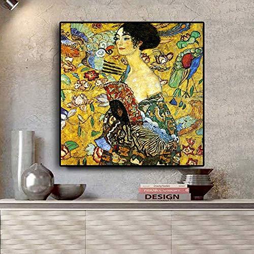 KWzEQ Ölgemälde skandinavisches Pop-Art-Plakat und Wohnzimmerwandbild auf Leinwand,Rahmenlose Malerei,45x45cm