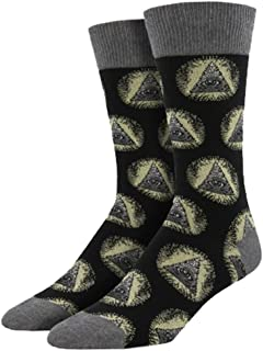 Socksmith Mens' Novelty Crew Socks Illuminati - 1 pair (Black)