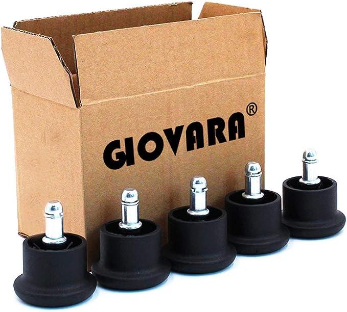 367 opinioni per GIOVARA- Set di 5 rotelle di ricambio per sedia da ufficio, 11 x 22 mm, diametro
