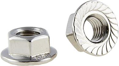 D´s Items® | flensmoeren - M6 - DIN 6923 - roestvrij staal A2 - [200 stuks] - | bouten | vergrendeltandmoeren | zeskantmoe...