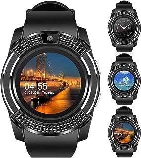 WTGJZN V8 Smart Watch Bluetooth Touch Screen Android Waterproof Sport Men Women Smartwatched with Camera SIM Card Slot PK DZ09 GT08 A1