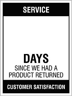 Caledonia Signs 54703 - Días de seguridad sin accidente (se limpia con un paño)