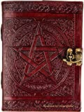 Urban Leather Book of Shadow Magic Spells - Diario de bala con relieve de la estrella celta para hombres y mujeres, cuaderno de dibujo, cuaderno de recortes, dibujo vintage, sin forro