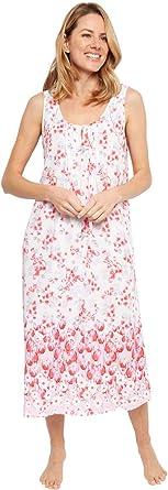 Cyberjammies 1368 Women's Nora Rose Portia Pink Floral Print Cotton Woven Nightdress