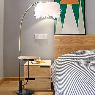 QAZQA Lampada da terra con paralume Classico Tondo Max Retr/ò Grigio//Crema 1 x Legno,Tessuto