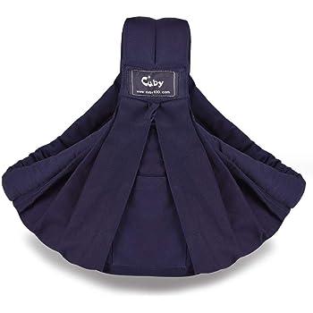 CUBY ベビースリング ベビーキャリア 抱っこひも 新生児 対象0~2歳 片肩 説明書あり 日本正規品(国内安全基準適合品) (ネイビー)