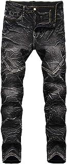 Men's Vintage Stretch Skinny Moto Biker Jeans Comfy Fashion Denim Pants