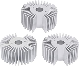 Aexit 3pcs Aluminio Difusor de calor Disipador de calor Radiador Aleta de refrigeración Enfriador 50mm x 22mm (model: Y2963VIIII-4005ZD) para lámpara LED