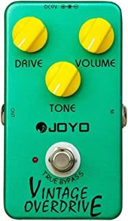 JOYO JF-01 Vintage Overdrive Classic Tube Screamer Pedal with RC4558 Chip for Electric Guitar Effect