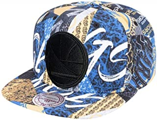 Mitchell & Ness NBA Paysage All Over Team Printed Graphic Adjustable Snapback Hat