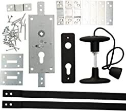 KOTARBAU garageslot 60 mm stalen set deurslot garagedeurslot profielcilinder voor kanteldeuren poortschegel deursluiting s...