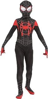 CHECKIN Toddler Kids Superhero Jumpsuit Spider Verse Lycra Spandex Bodysuit Black Spider Tights Zentai Costume