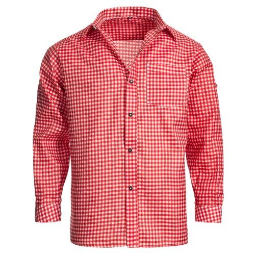 Gaudi-Leathers Herren GL6050 Trachtenhemd, Rot 010), XXL