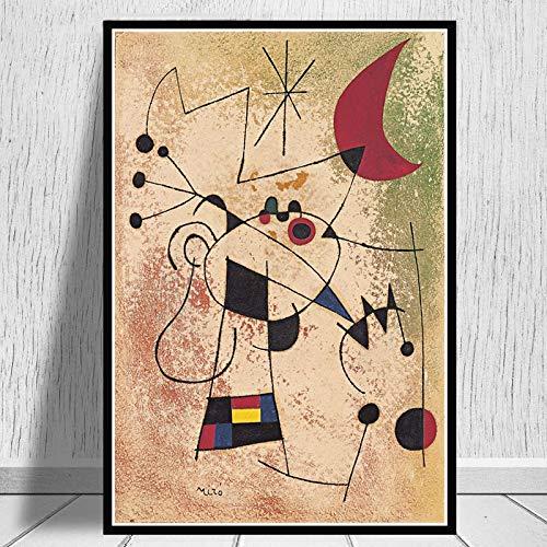 ganlanshu Retro-Plakatwandkunst des Gemäldes der modernen Kunstmalerei für Hauptdekoration,Rahmenlose Malerei,40X60cm