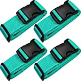 TRANVERS Universal Luggage Straps for Suitcase with ID Function 4-Pack Lake Blue...