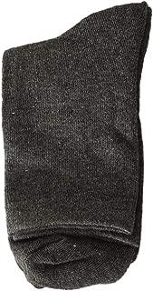 Hstore Womens Cotton Socks High Ankle 1Pair Mens Non Elastic 100% Pure Socks Comfort Soft Grip Diabetic Business Casual