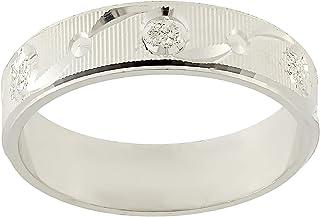Aurora Women's Silver White Dubla Ring