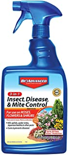 BioAdvanced 701290B Insecticide Fungicide Miticide 3-in-1 Insect, Disease & Mite Control, 24 oz, Ready-to-Use