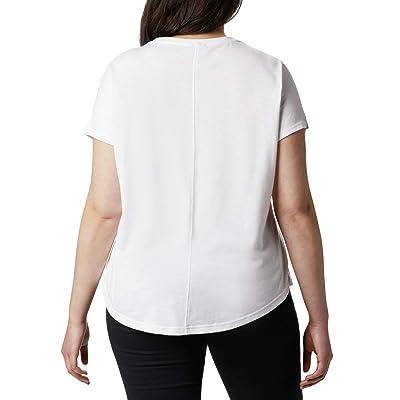 Columbia Plus Size Cades Capetm Tee (White) Women