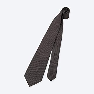 Mens Silk Tie Solid Black Wedding Business Formal Necktie 148 × 8cm Men's Gift CQQO (Color : E)