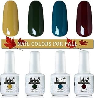 Gel Nail Polish, Belen 4 Colours UV Soak Off Autumn Gel Polish Series
